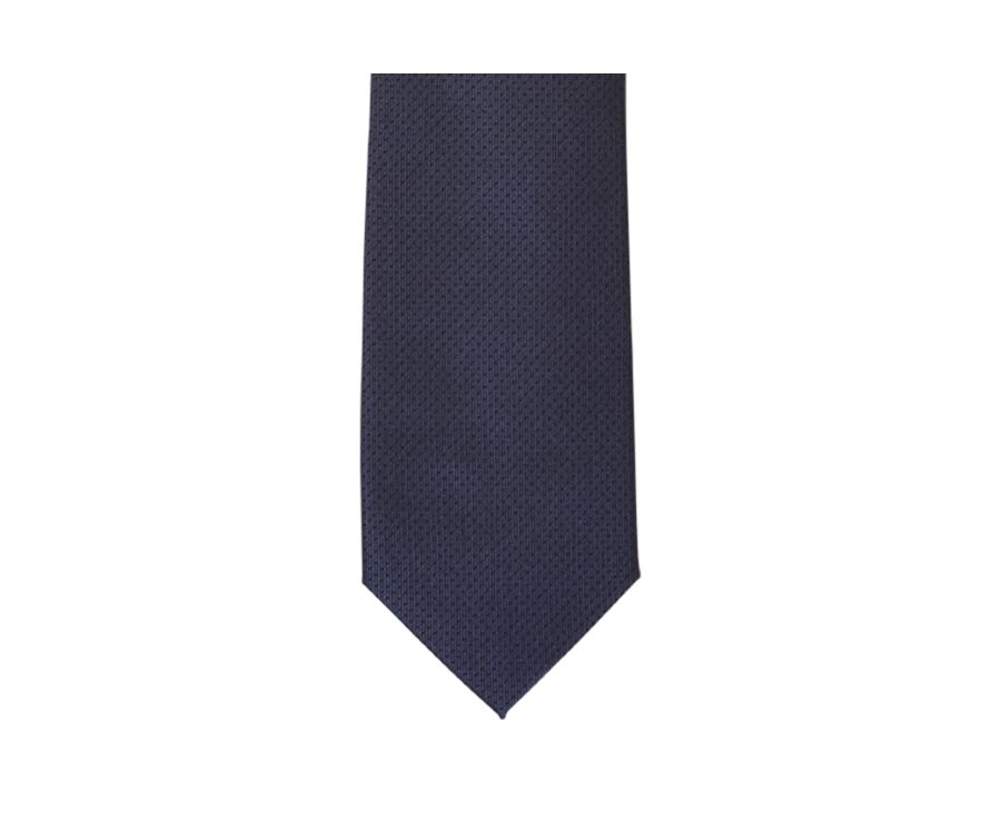 Dotted Silk Tie Petrol blue and navy