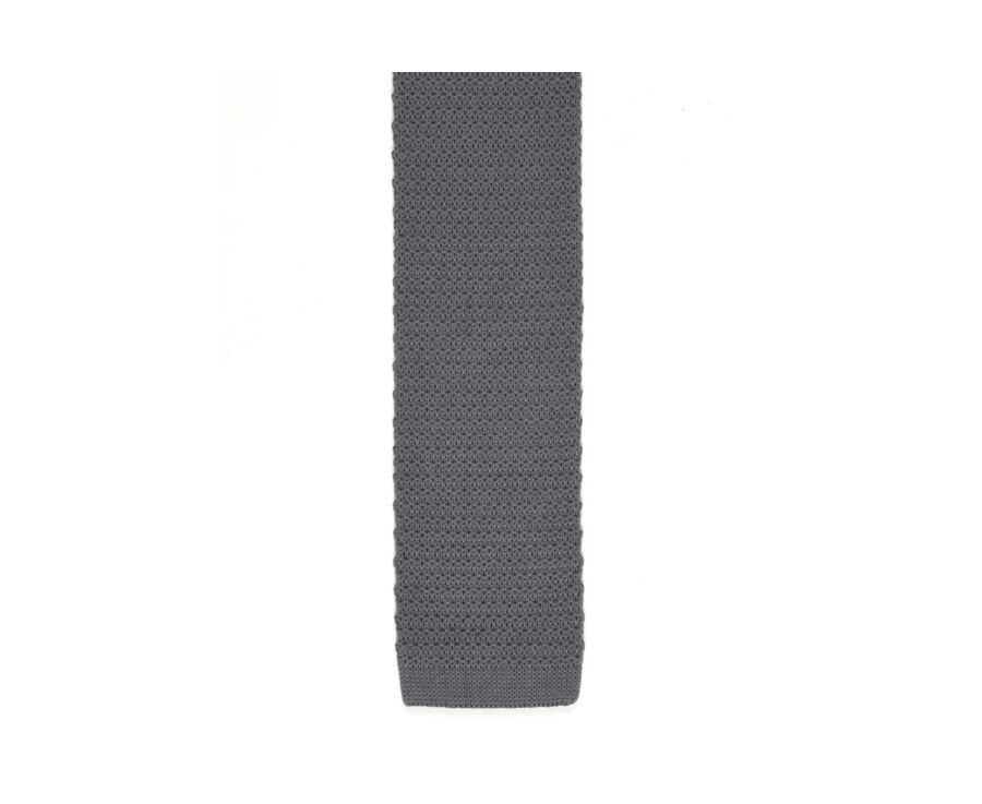 Knitted Cotton Tie Grey
