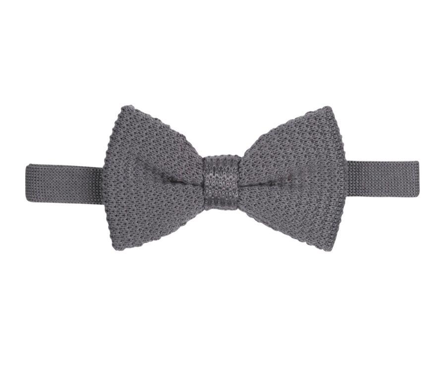 Woolen Bow Tie Grey