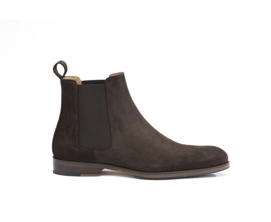 Chelsea boots homme Velours Brun - DAWSON II PATIN