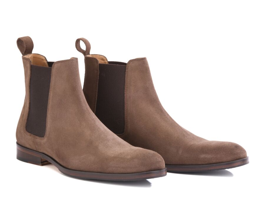 Chelsea boots homme Velours Taupe - DAWSON II PATIN
