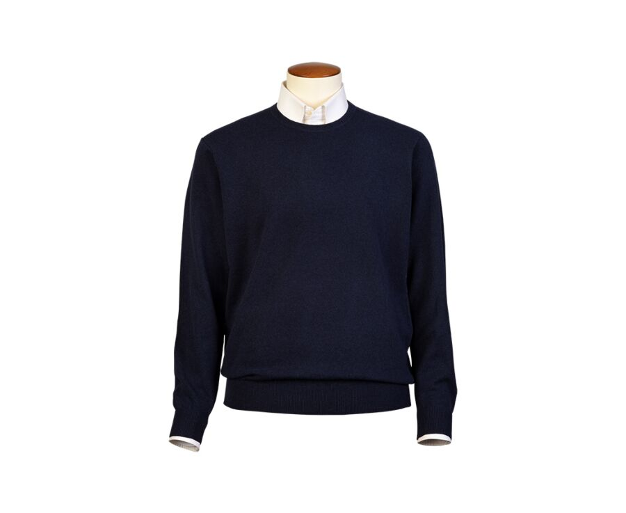 Pull homme laine col rond Navy - CONAN