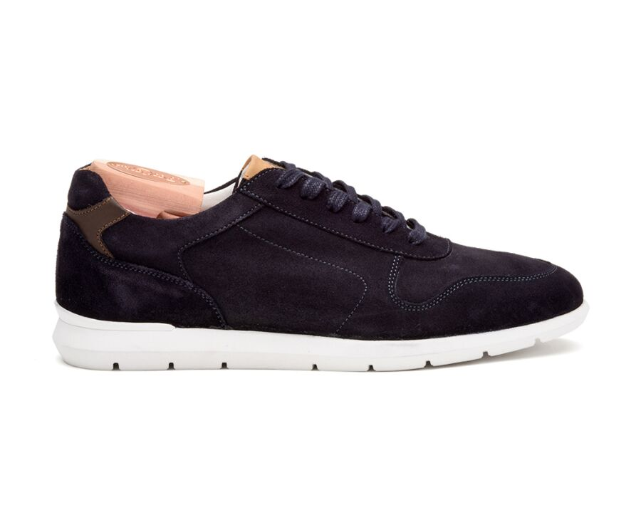 Sneakers homme Velours Marine - CAIRNS
