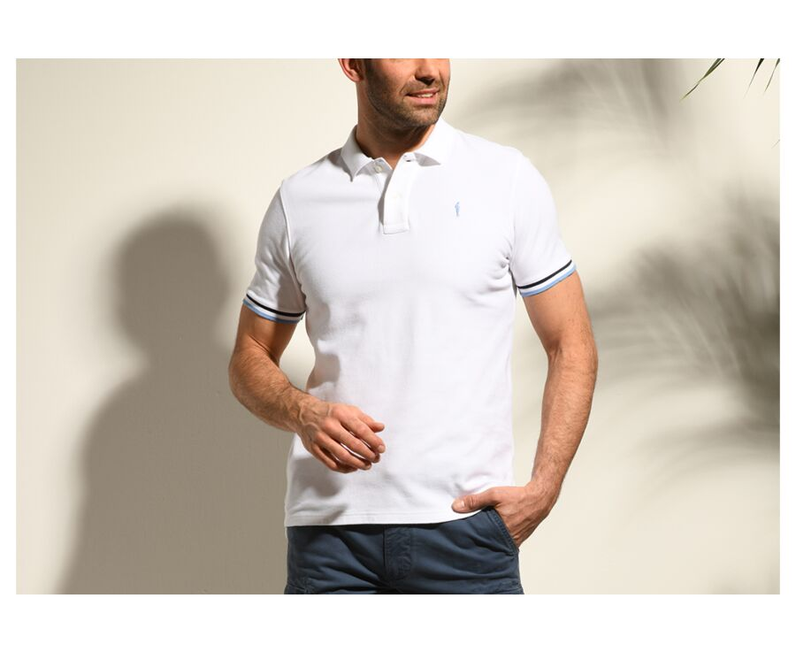 Polo Blanc homme - ANDREW