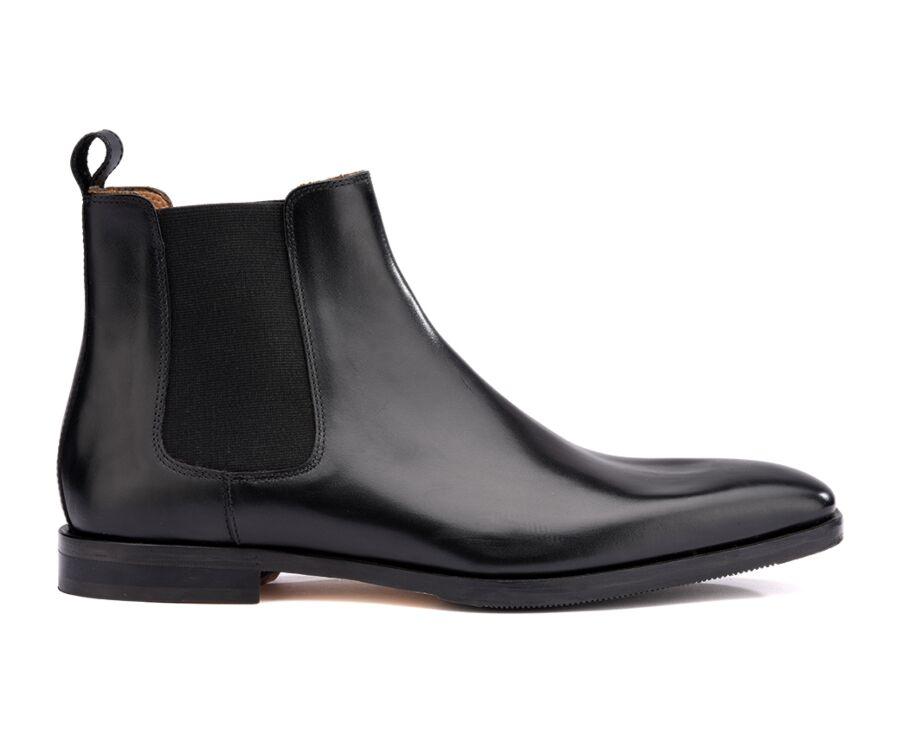 Chelsea boots cuir homme Noir - BERGAME PATIN