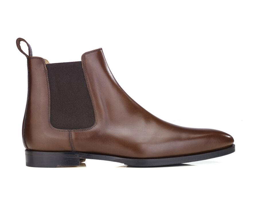 Chelsea boots cuir homme Café - BERGAME PATIN