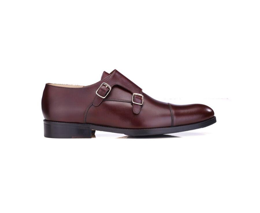Chaussures homme double boucle Bordeaux avec patin - GRESHAM PATIN