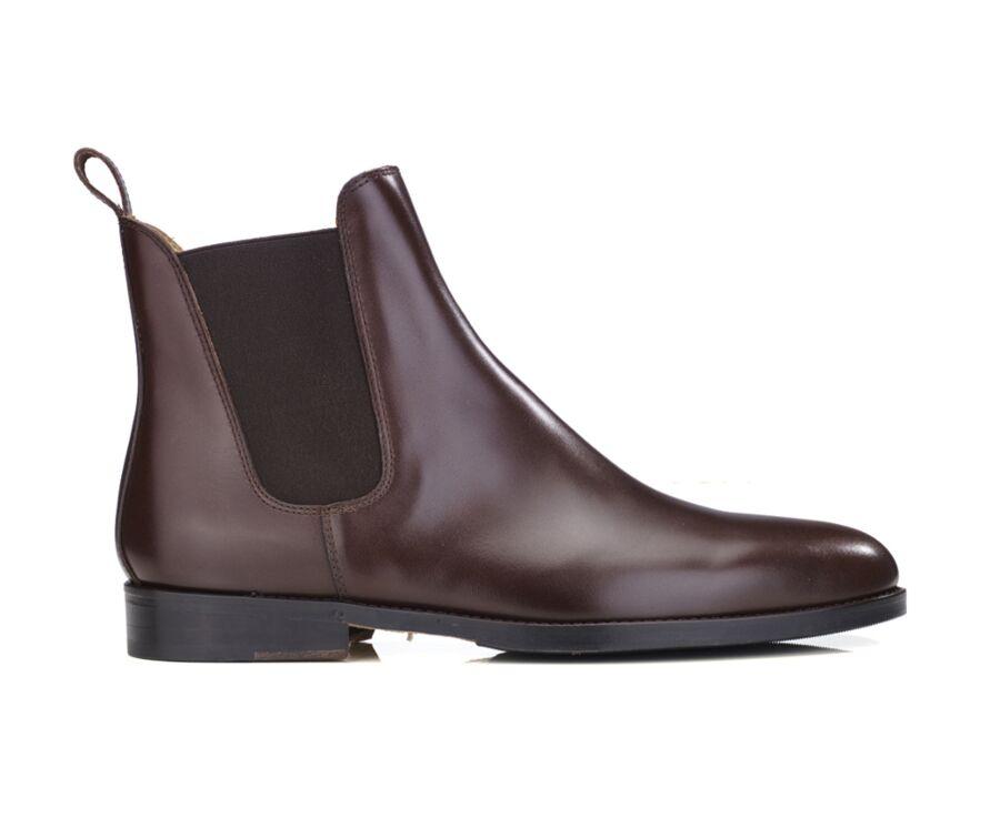 Chelsea boots cuir homme Marron foncé - FLAGER PATIN