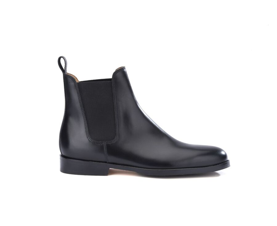 Chelsea boots cuir homme Noir - FLAGER PATIN