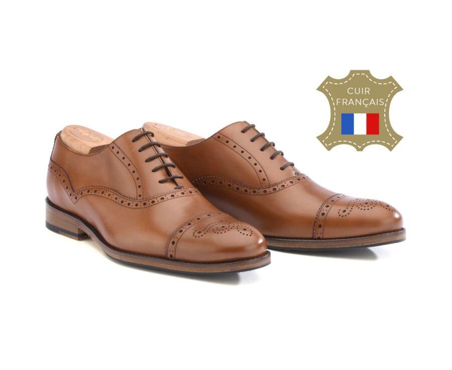 Richelieu homme Gold semelle cuir avec patin - HILCOTT PATIN