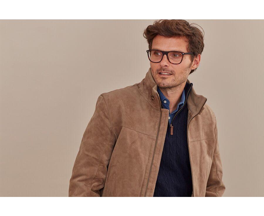 Blouson cuir homme Camel Foncé - COOPER