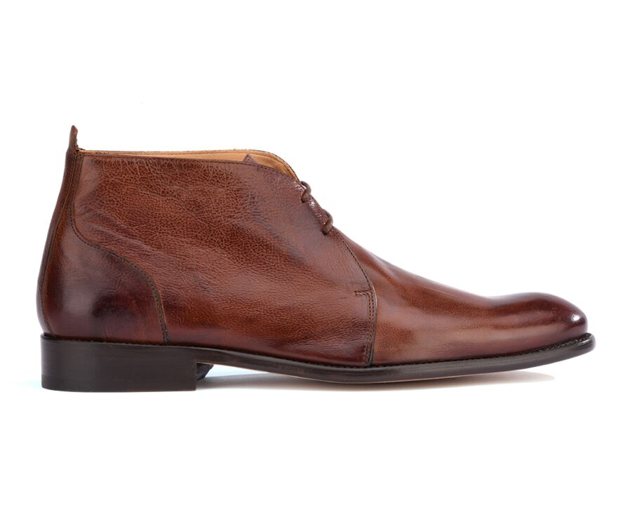 Low boots homme Chocolat Patiné - WARMINSTER