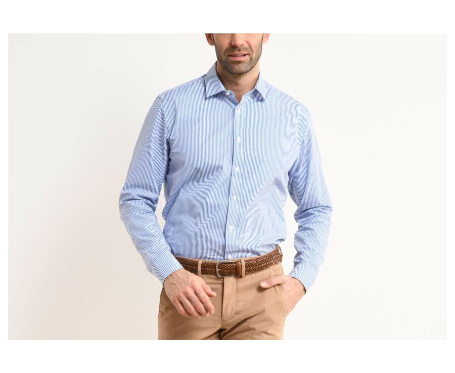 Chemise coton rayée bleu et blanc - MAXIMILIEN