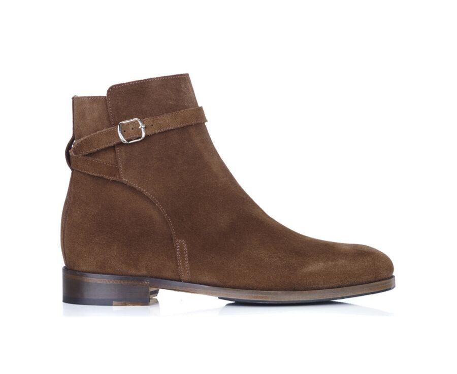 Boots Jodhpur homme Velours Havane - WHITEHALL PATIN