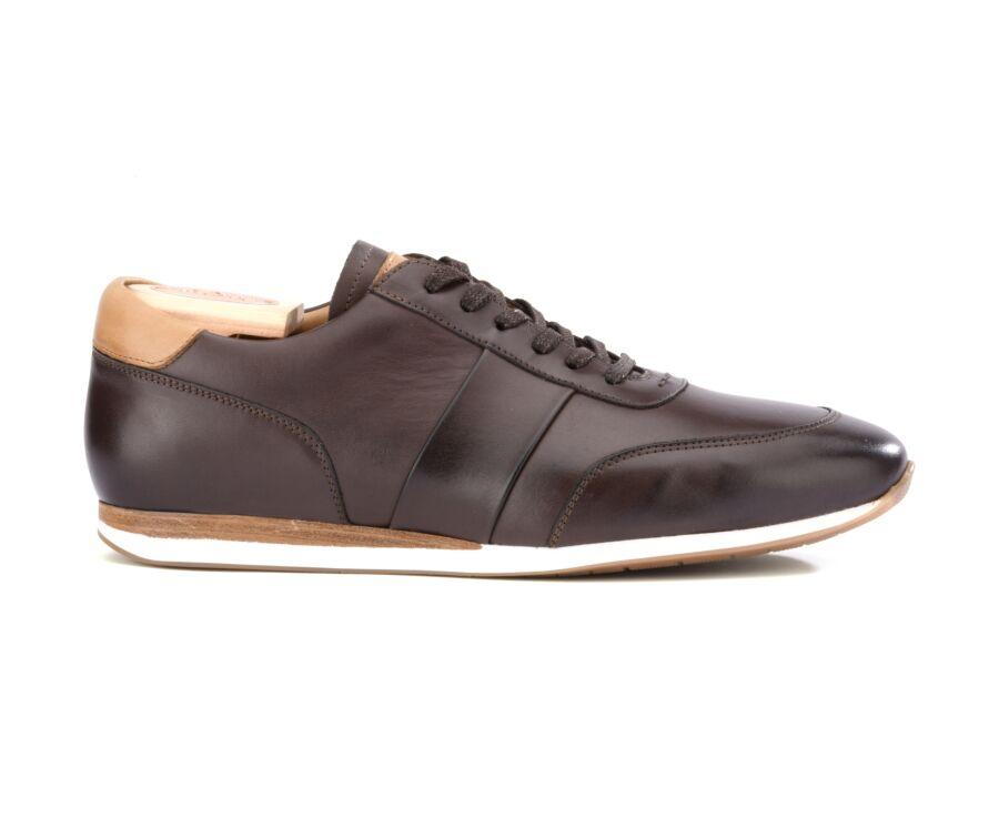 Sneakers Chocolat Patiné cuir homme - BUCKENDERRA