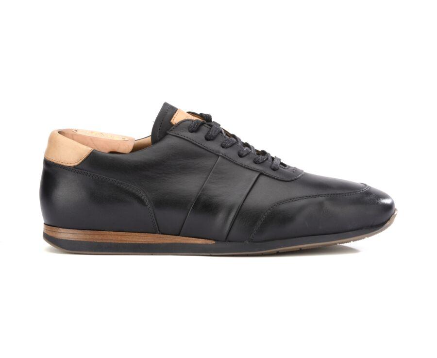 Sneakers Noir Patiné cuir homme - BUCKENDERRA