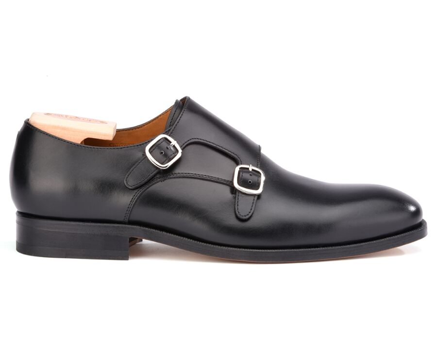 Chaussures homme double boucle Noir - CHIGWELL