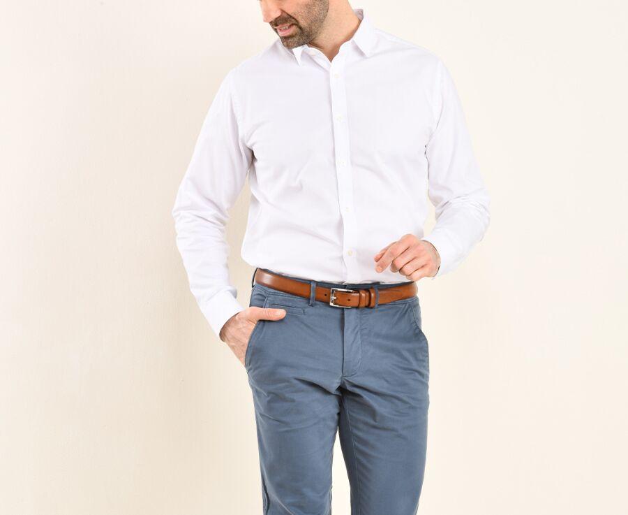 Chemise Oxford coton blanc - EVRARD