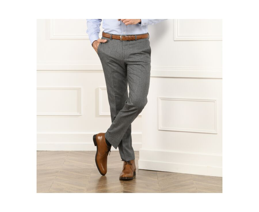 Léonard Trousers Light grey melange
