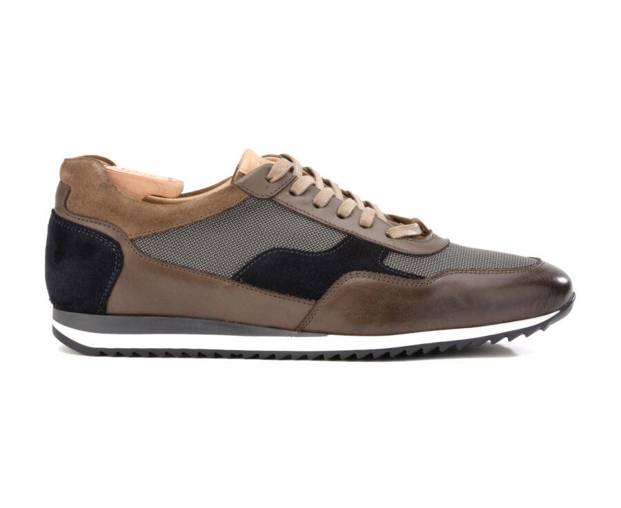 Sneakers homme Marron Et Velours Marine - COROWA
