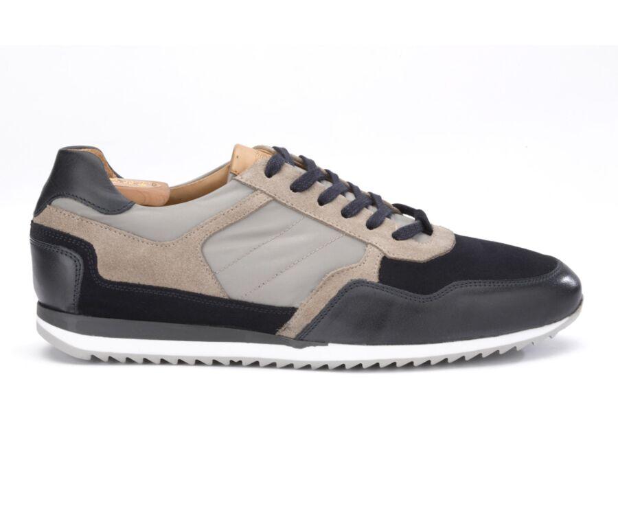Sneakers homme cuir Navy et Beige - CORUNNA