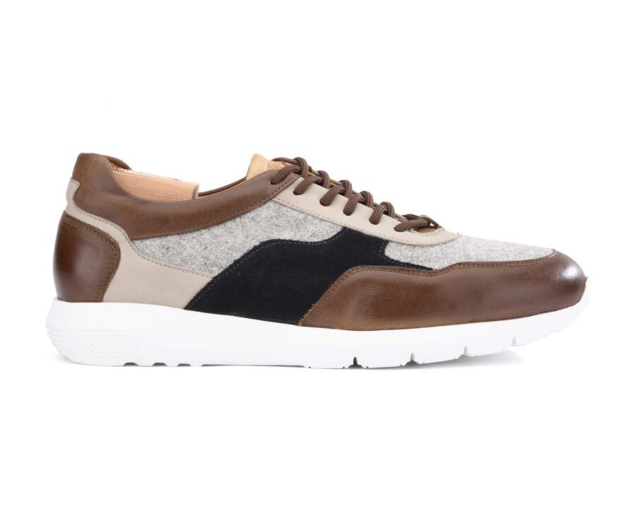 Sneakers homme Marron et Tweed - NERRIGA