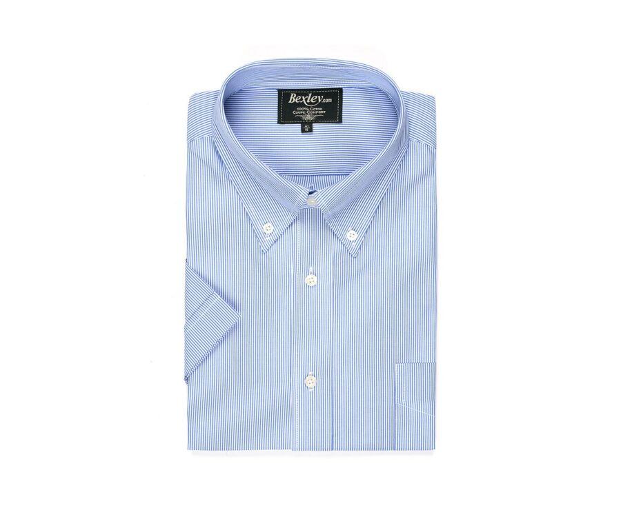 Chemise rayée bleu et blanc - Poche - TRENT MC