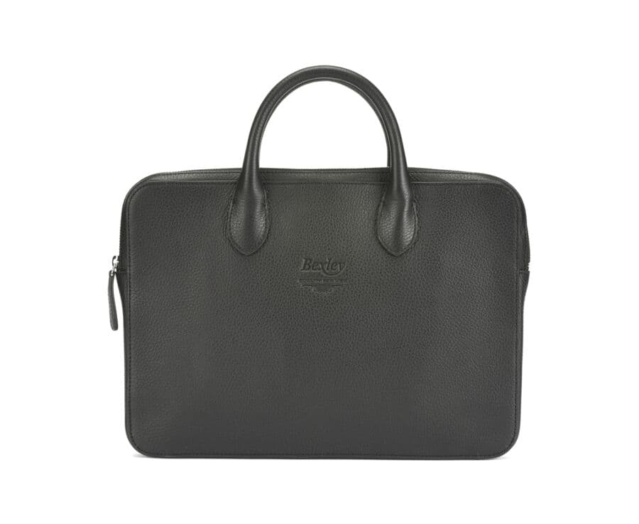 Willington Black grained leather