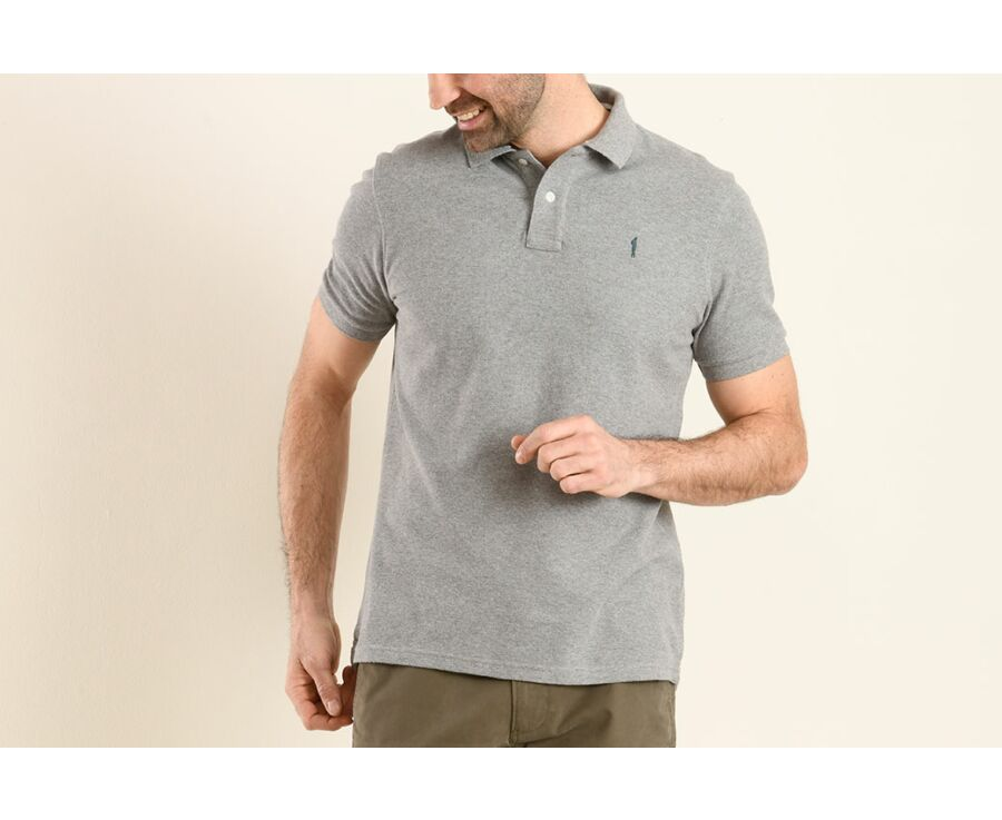 Polo Gris Chiné homme - ANDRIC