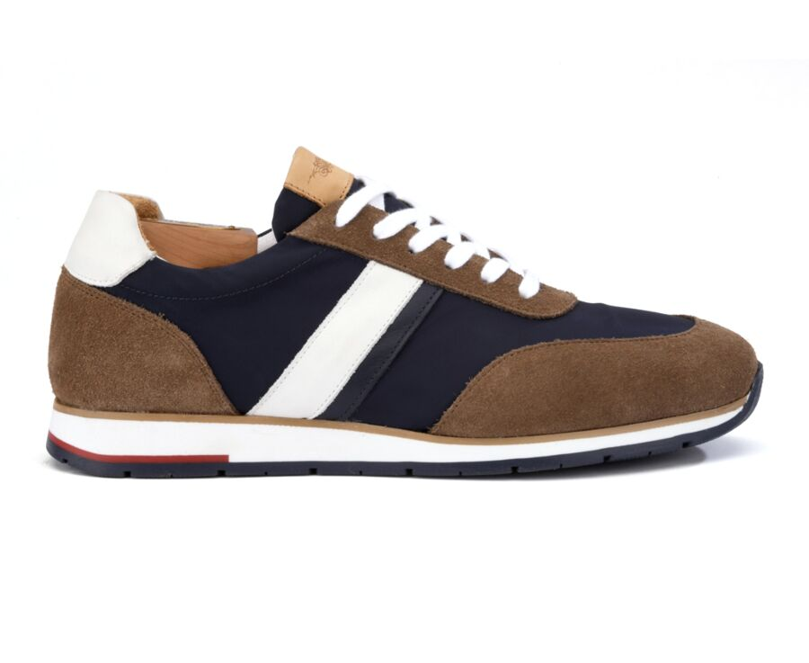 Markwood Taupe Suede and Navy