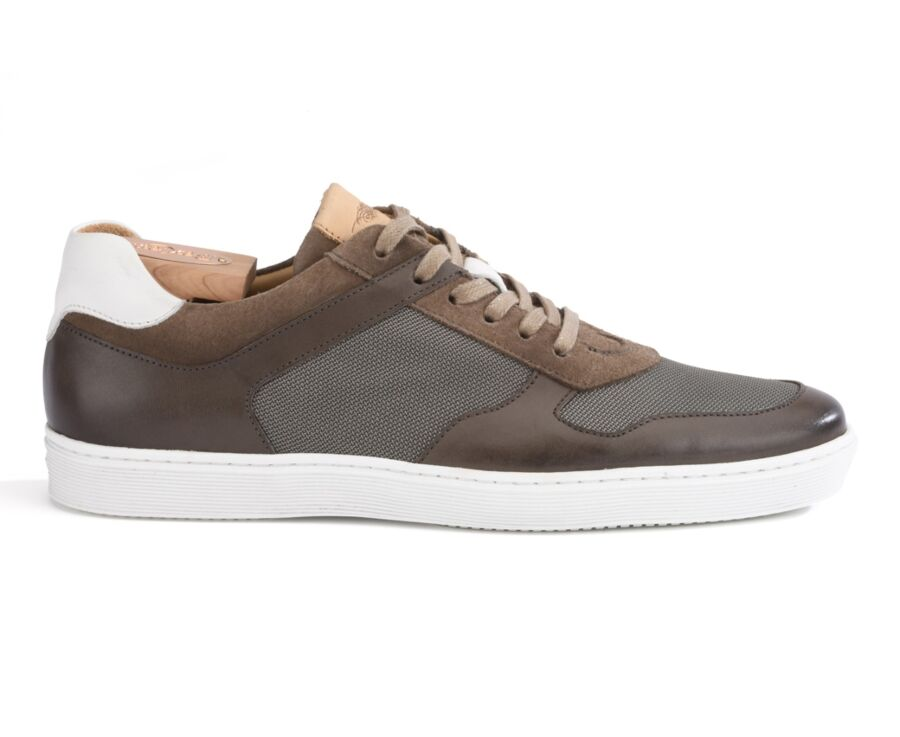 Sneakers homme Taupe Patiné - MERIWA