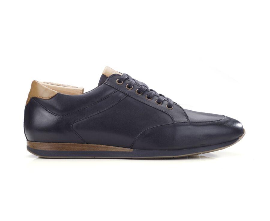 Sneakers homme cuir Noir Patiné - BELBARA