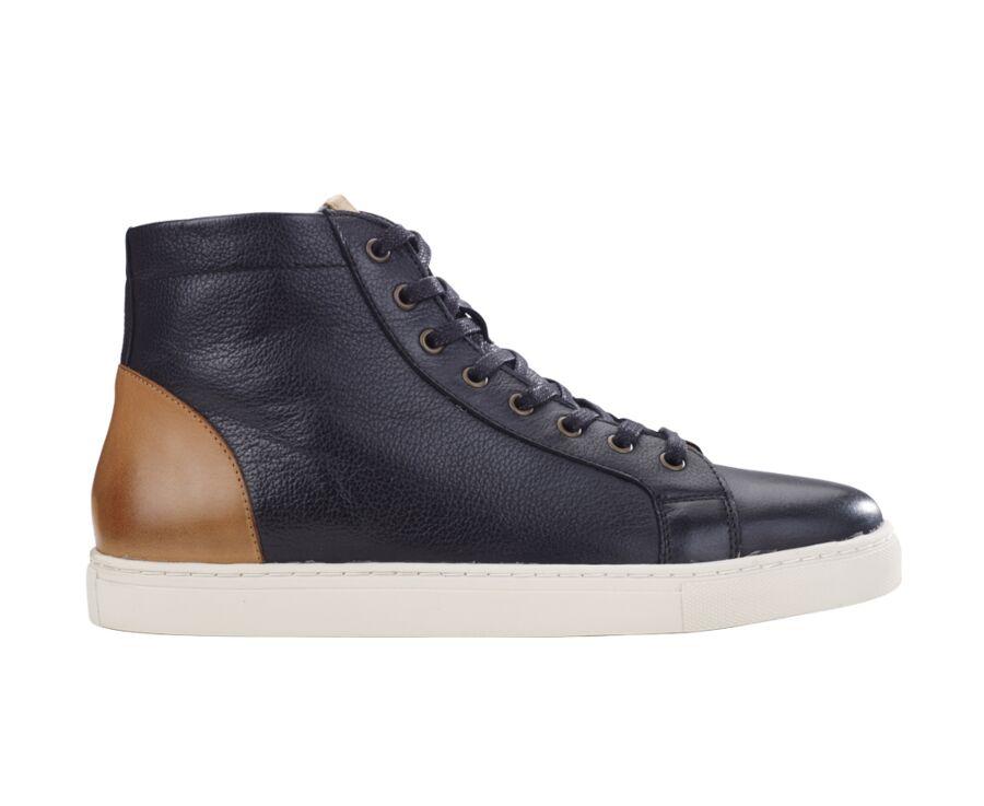 Sneakers montantes homme cuir Noir - HAWTHORNE