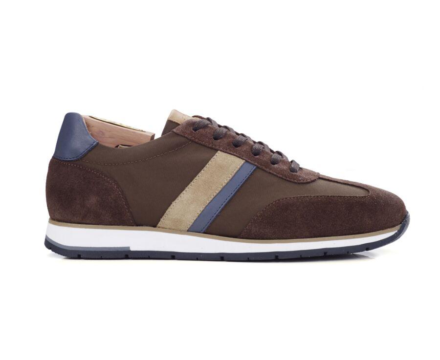 Sneakers homme Velours Chocolat et Navy - MELINGA