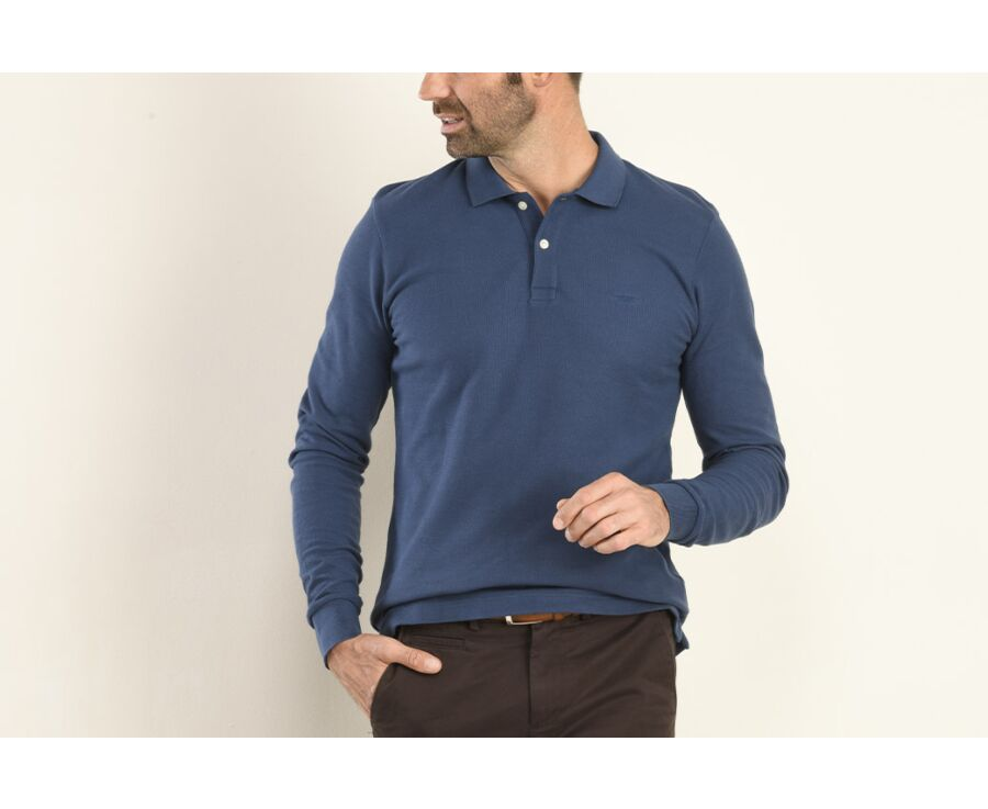 Polo manches longues homme Bleu - ANDY II ML