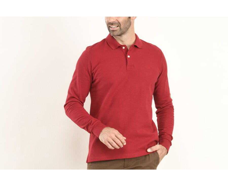 Polo manches longues homme Rouge - ANDY II ML