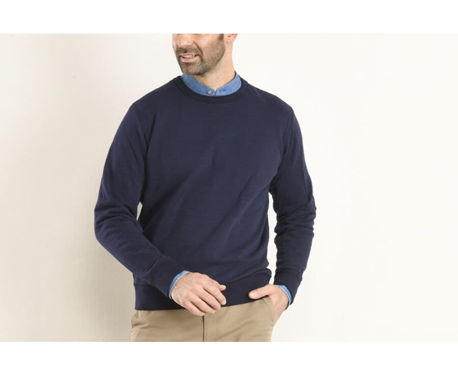Sweat-shirt homme coton Navy - ALFFORD