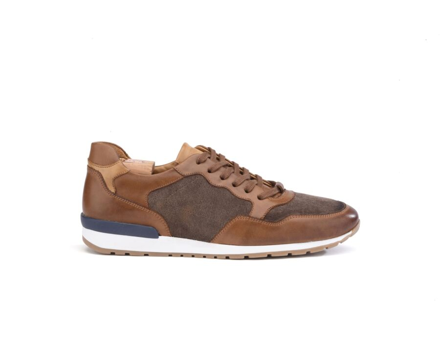 Canberra II Chestnut with patine and Taupe Suede