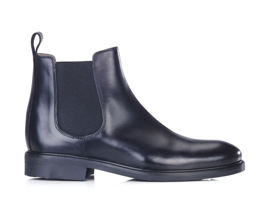 Chelsea boots cuir pull up homme Noir - FANGLER GOMME CITY