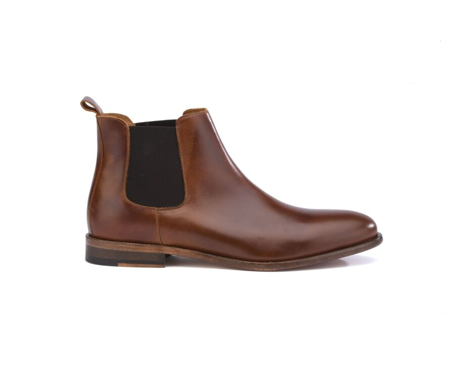 Chelsea boots cuir pull up homme Cognac - FISHERTON II