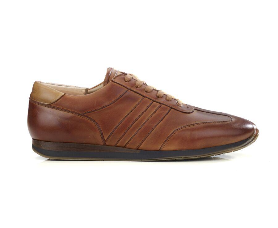 Sneakers homme Cognac patiné - BOCKARA