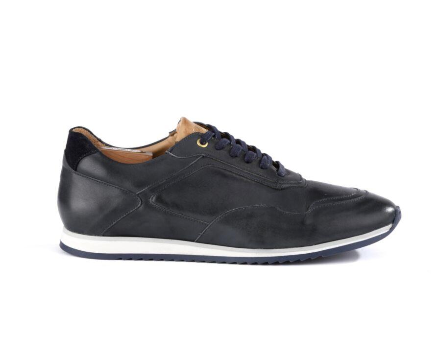 Sneakers homme Navy Patiné - WAYGARA