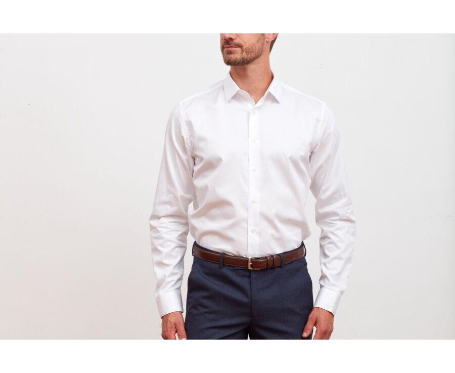 Chemise blanche coton twill - CAUBERT