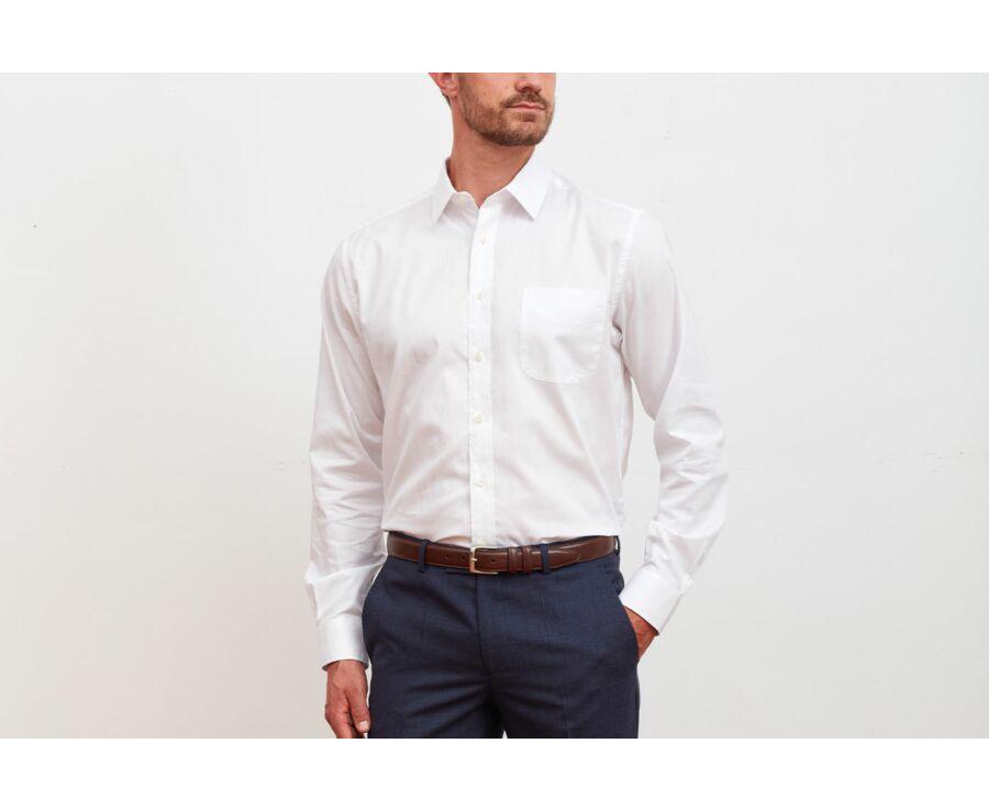 Chemise blanche texturée - Col français - NOLBERT