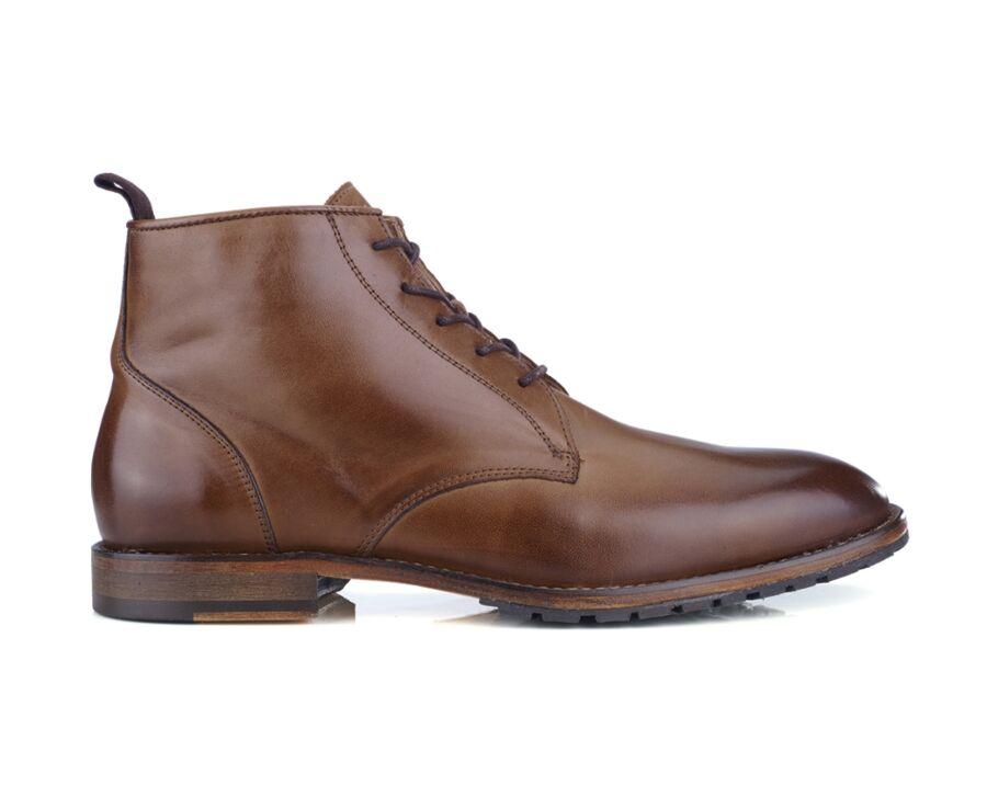 Boots homme Noisette patiné - DETLING PATIN