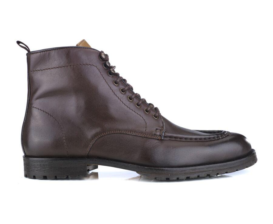 Derby boots homme à lacets Chocolat patiné - WARTLING PATIN