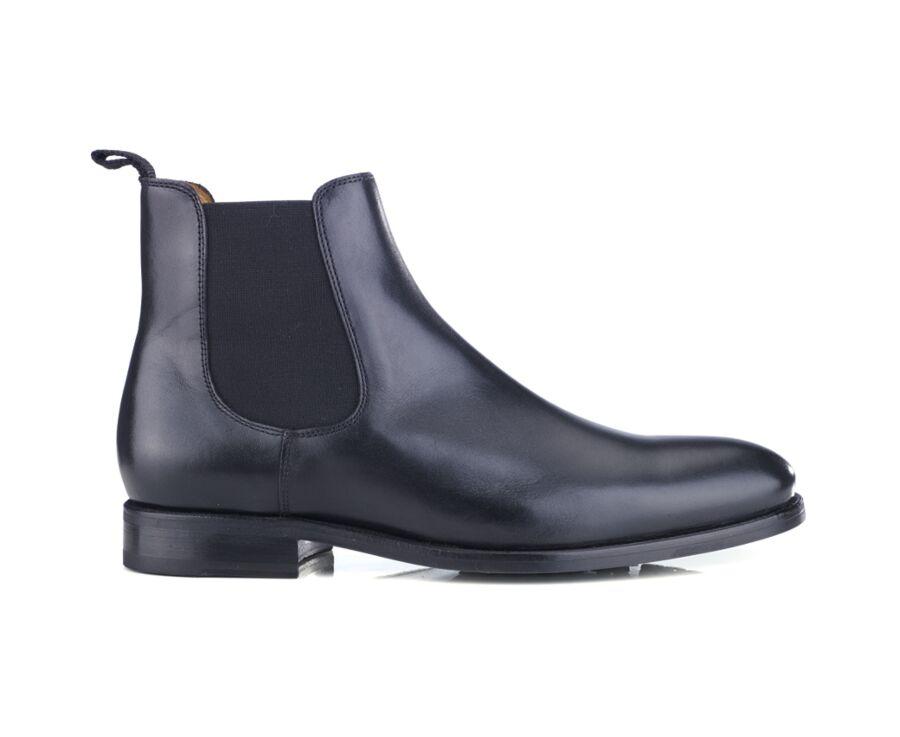 Chelsea boots cuir homme Noir - ALDERTON GOMME