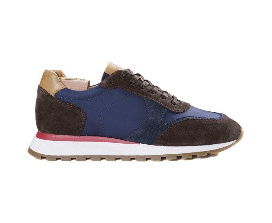 Sneakers homme velours Brun et Navy - BAROMI