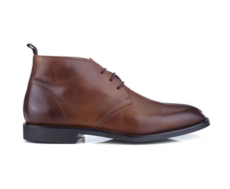 Low boots homme Cognac patiné - WALTON II GOMME CITY
