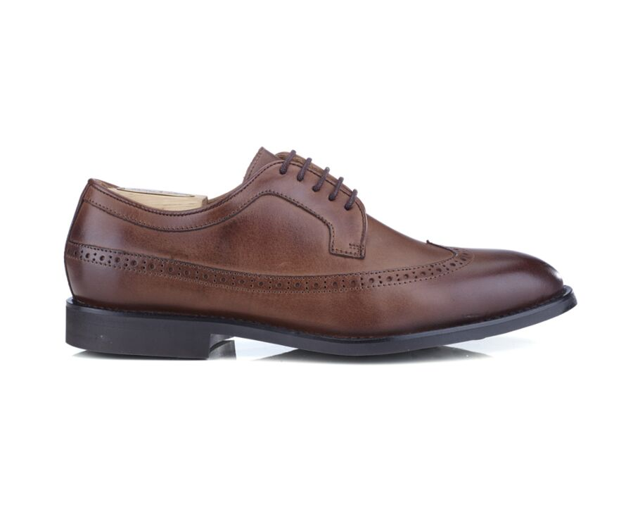 Derbies homme cuir Chocolat patiné - BESFORD GOMME CITY